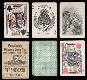 """Perfection Playing Card Co. """"Steamboats No. 90."""""""