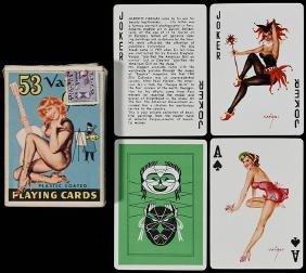 """Alberto Vargas """"53 Vargas Girls"""" Pin Up Playing Cards."""