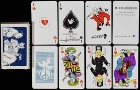 """Siegfried Heilmeier """"Antikriegsspielkarte"""" Playing"""