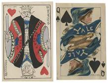 Two Miscellaneous Postcards with Playing Cards.
