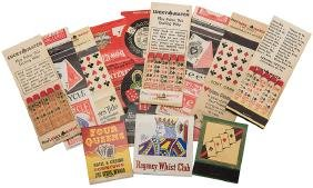 Lot of 13 Match Book Covers Playing Card Related.