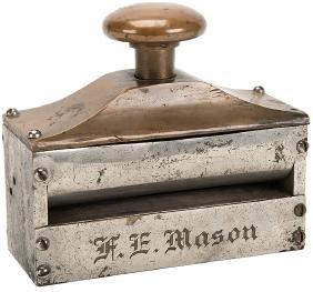 F.E. Mason Brass & Steel Card Trimmer.