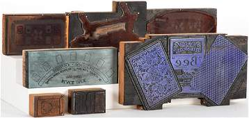 Group of Seven Printing Blocks from Hunt & Company