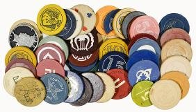 37 Miscellaneous Gambling Chips.