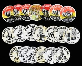20 Harold's Club Poker Chip Inserts.
