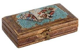 Petit Point (3 Playing Cards) and Leather Whist Counter