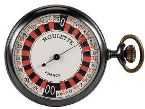 Antique Roulette Wheel Pocket Watch Game.