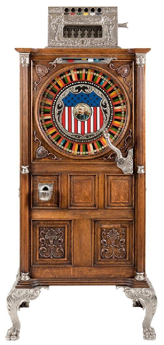 Watling Mfg. Co. 5 Cent Upright Dewey Slot Machine.
