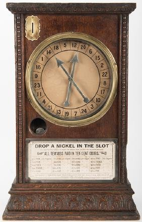 """Western Weighing Machine Co. """"The Eclipse"""" 5 Cent Wood"""