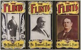 Flint Herbert L Triptych of Window Cards