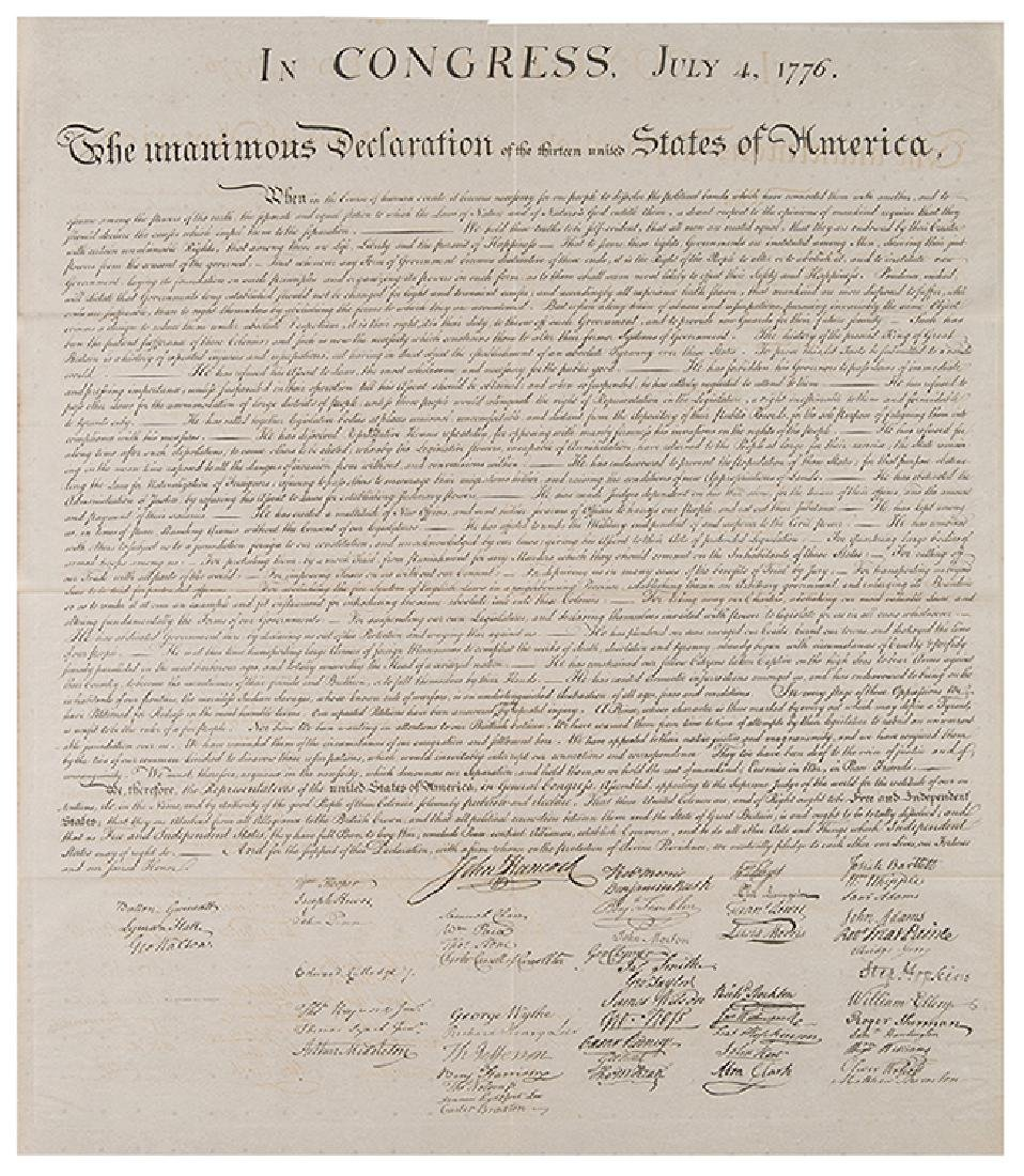 [Declaration of Independence] Peter Force Engraving
