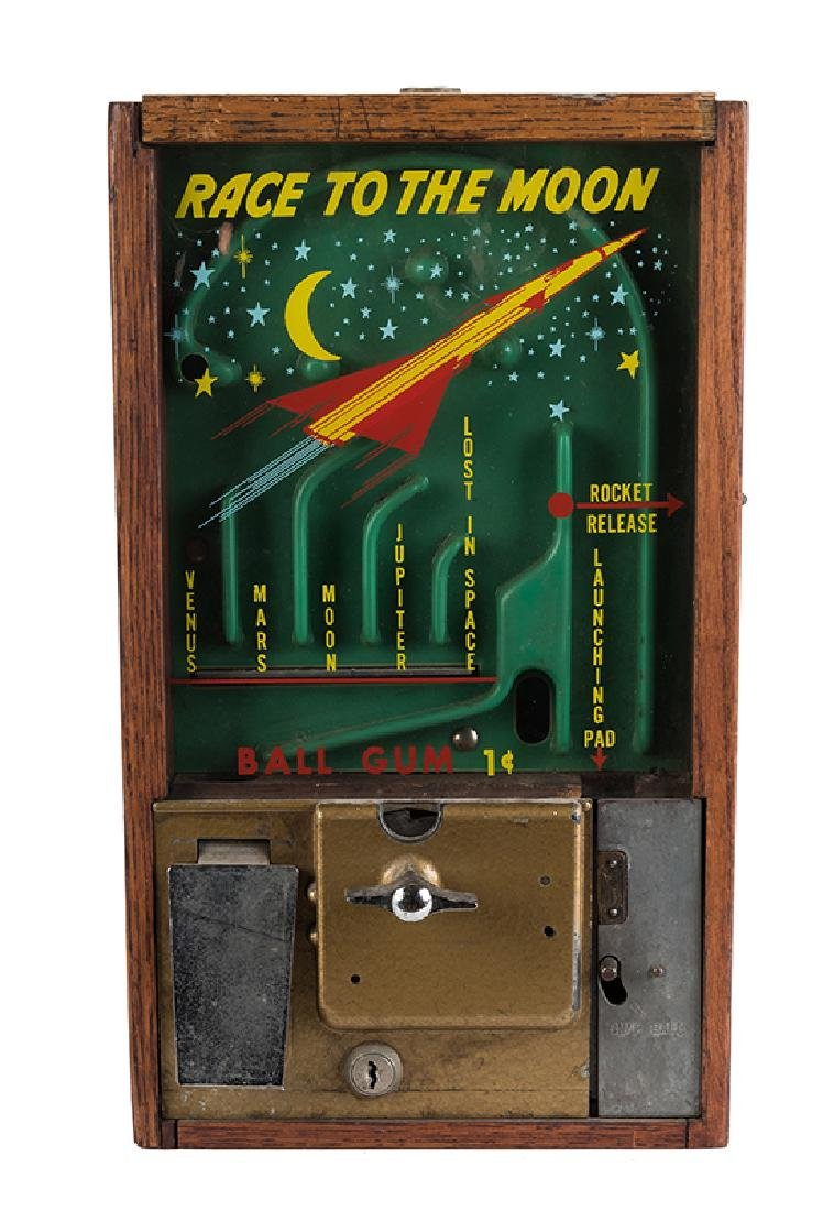 Victor Vending Corp. 1 Cent Race to the Moon Gumball