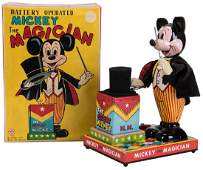 Linemar Mickey the Magician Battery-Operated Toy.
