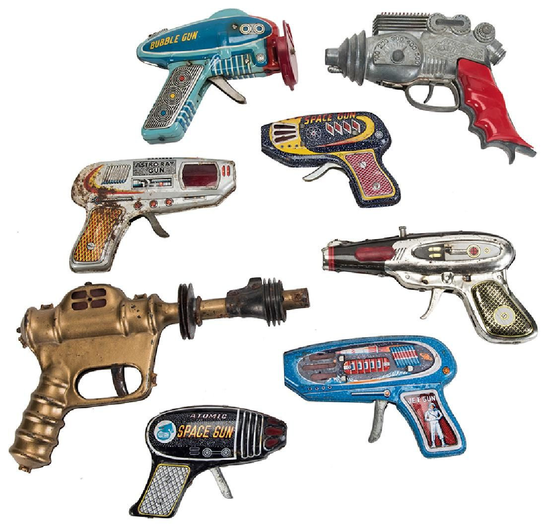 Group of Seven Vintage Space and Atomic Guns.