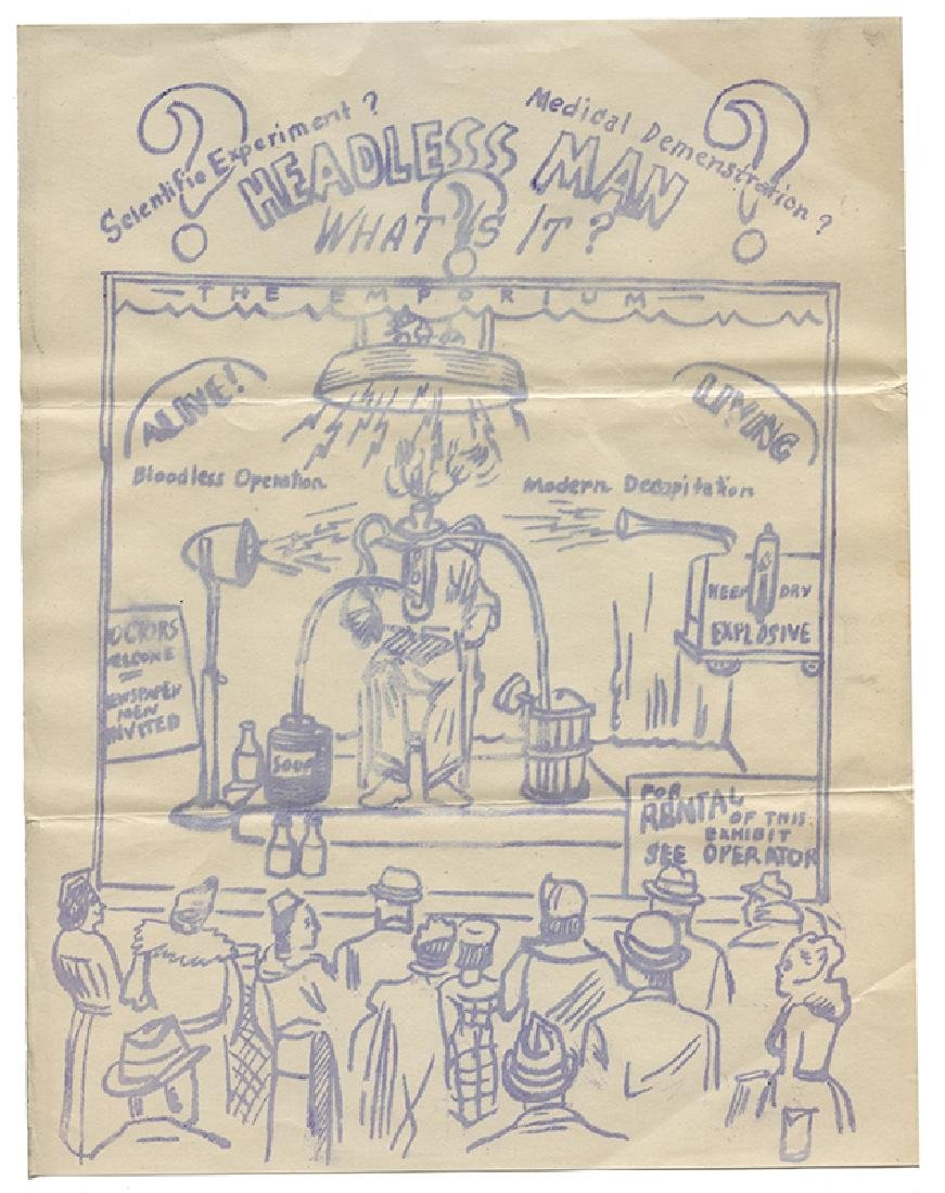 Group of Advertising Circulars and Sideshow Attraction - 4