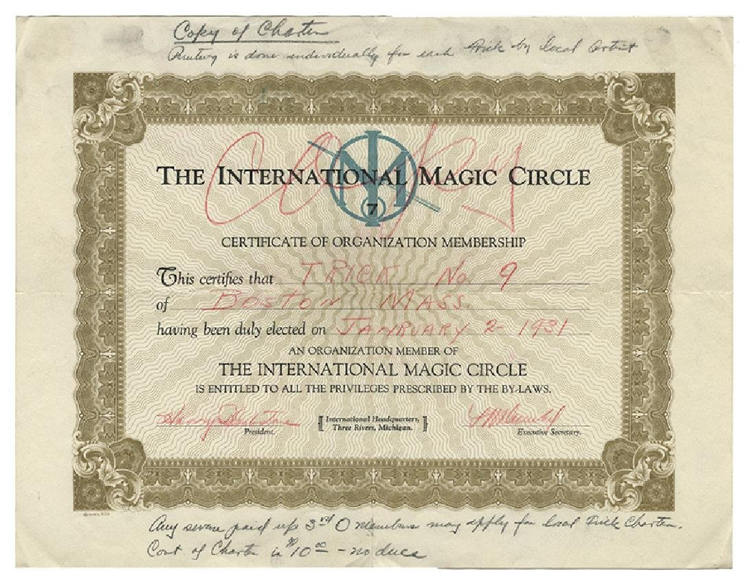 Archive of International Magic Circle Documents and - 10