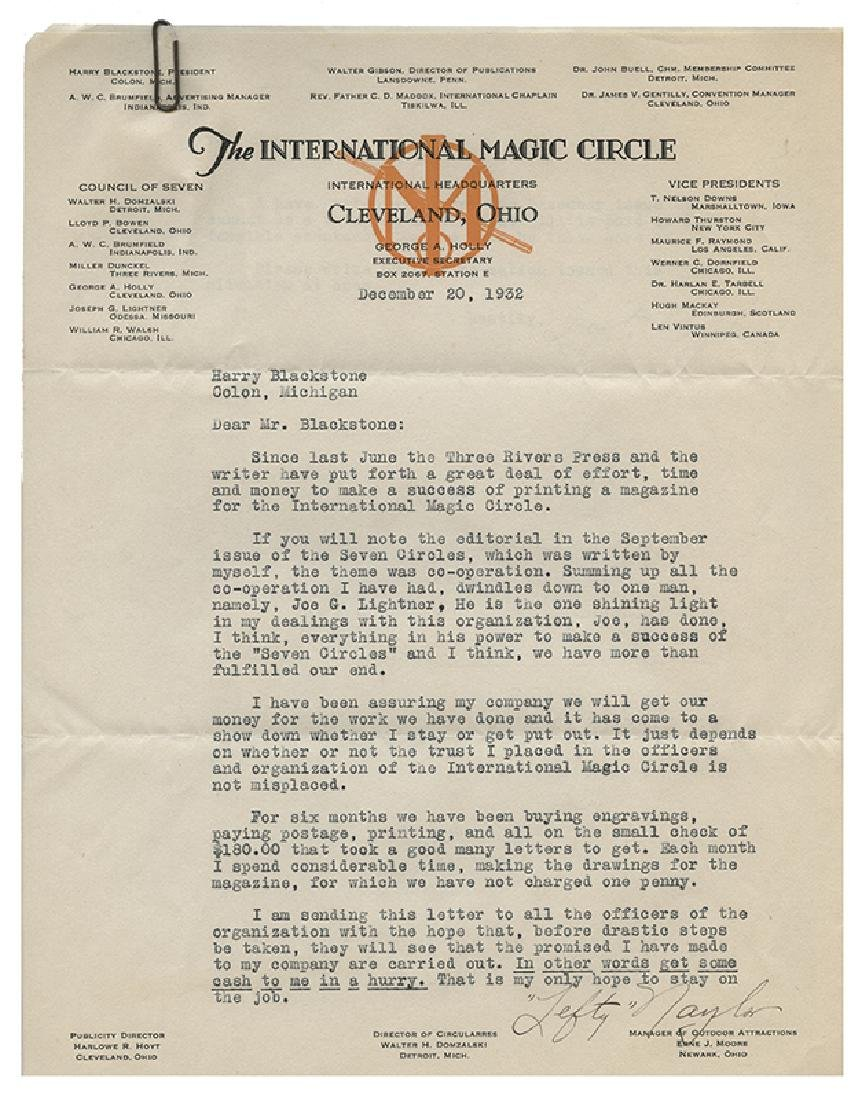 Archive of International Magic Circle Documents and - 5