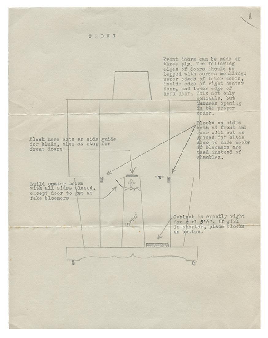 Original Illusion Plans to the Disembodied Princess - 2