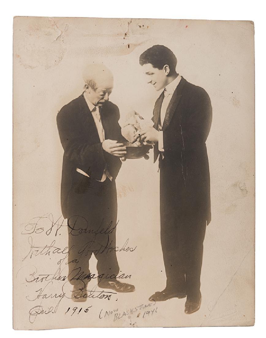 "Photograph of Blackstone Signed ""Harry Bouton""."