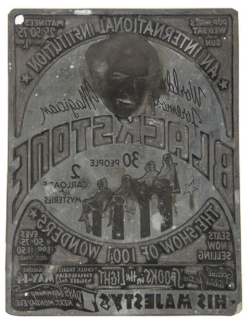 Blackstone Newspaper Advertisement Printing Plate.