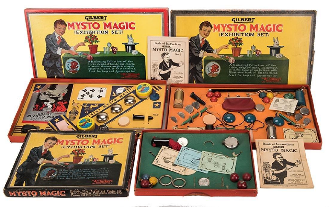 A.C. Gilbert Mysto Magic Sets. Group of Three.