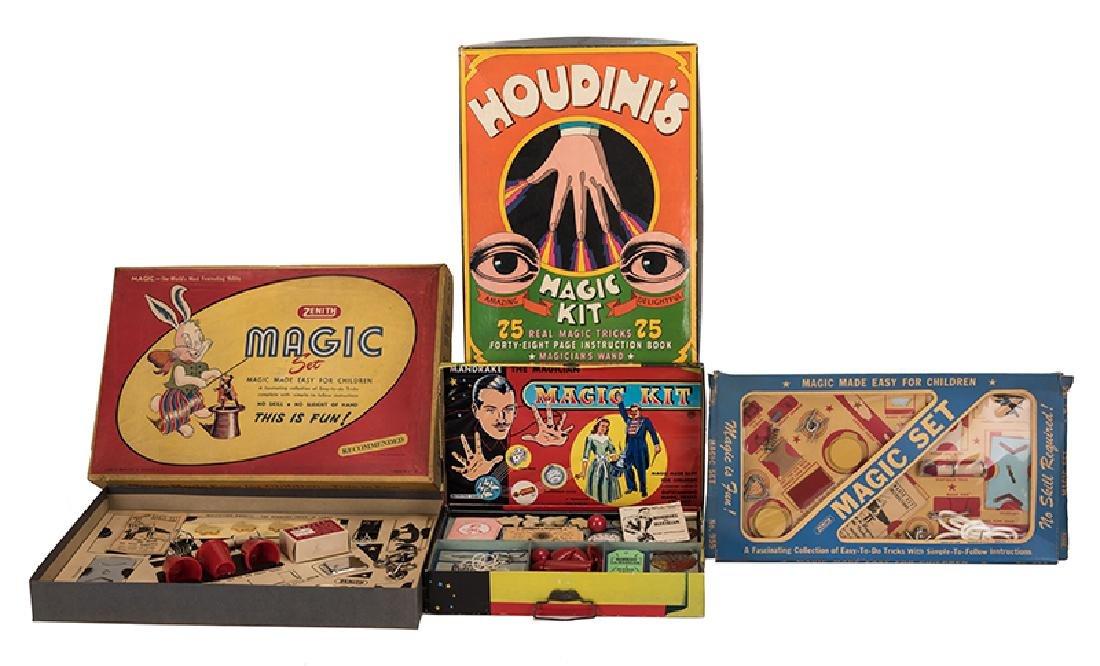 Group of Four Vintage Magic Sets.