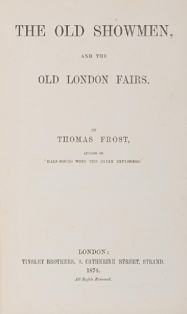 Frost, Thomas. Two Volumes by Frost. - 2