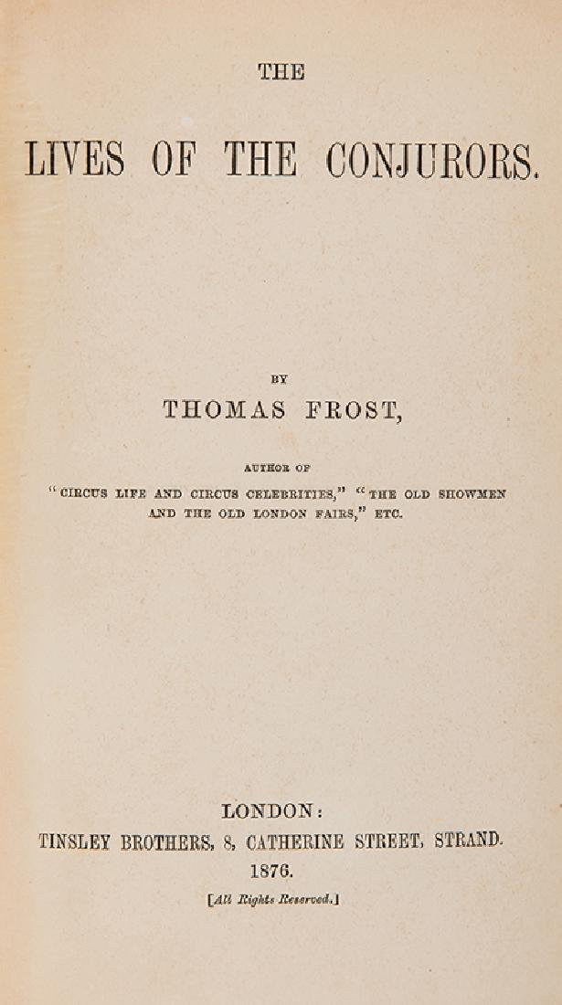 Frost, Thomas. Two Volumes by Frost. - 3