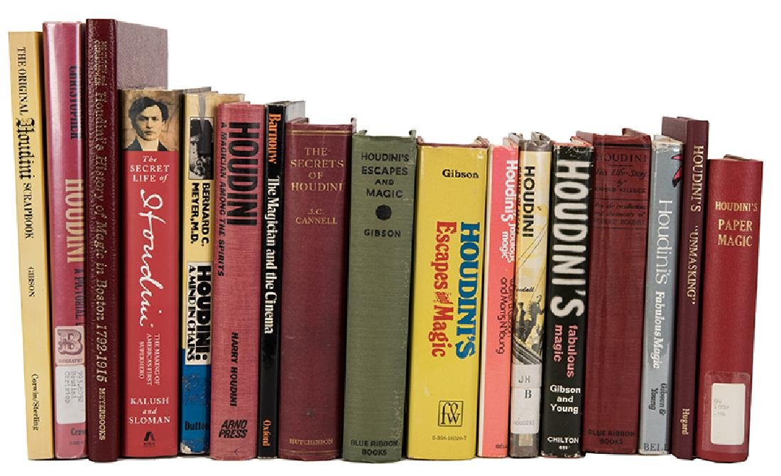 Group of 21 Books By or Pertaining to Houdini.