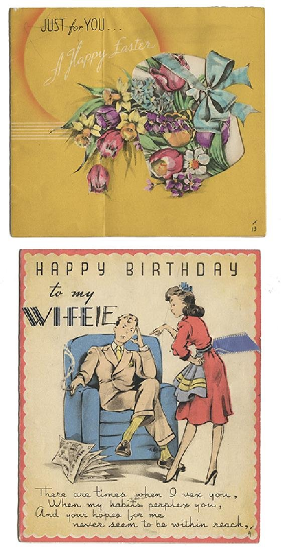 Group of Birthday and Holiday Cards, and a Photo, - 4