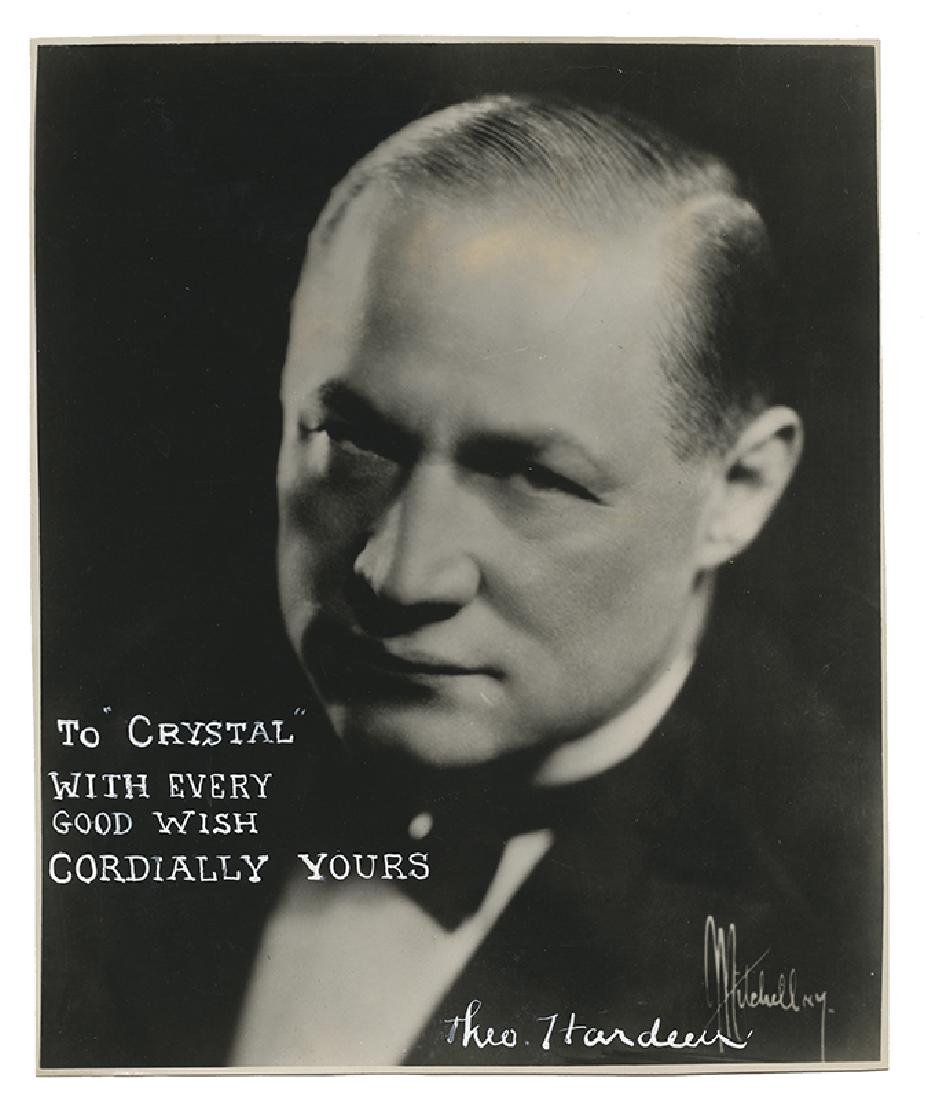 Photograph Inscribed and Signed by Hardeen.