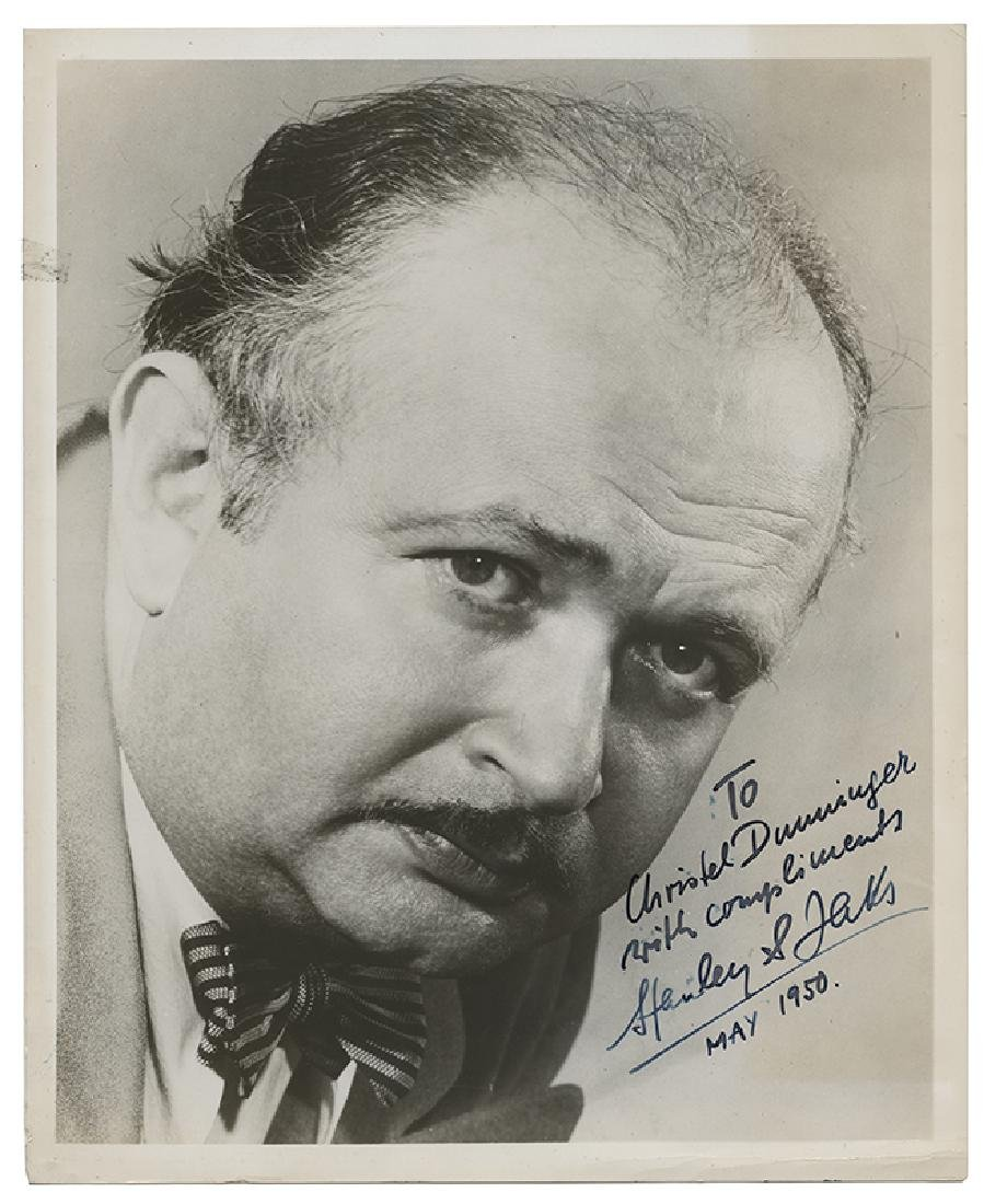 Inscribed and Signed Photo of Stanley Jaks.