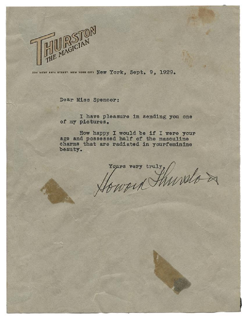 "Typed Letter Signed, ""Howard Thurston"", to Chrystal"