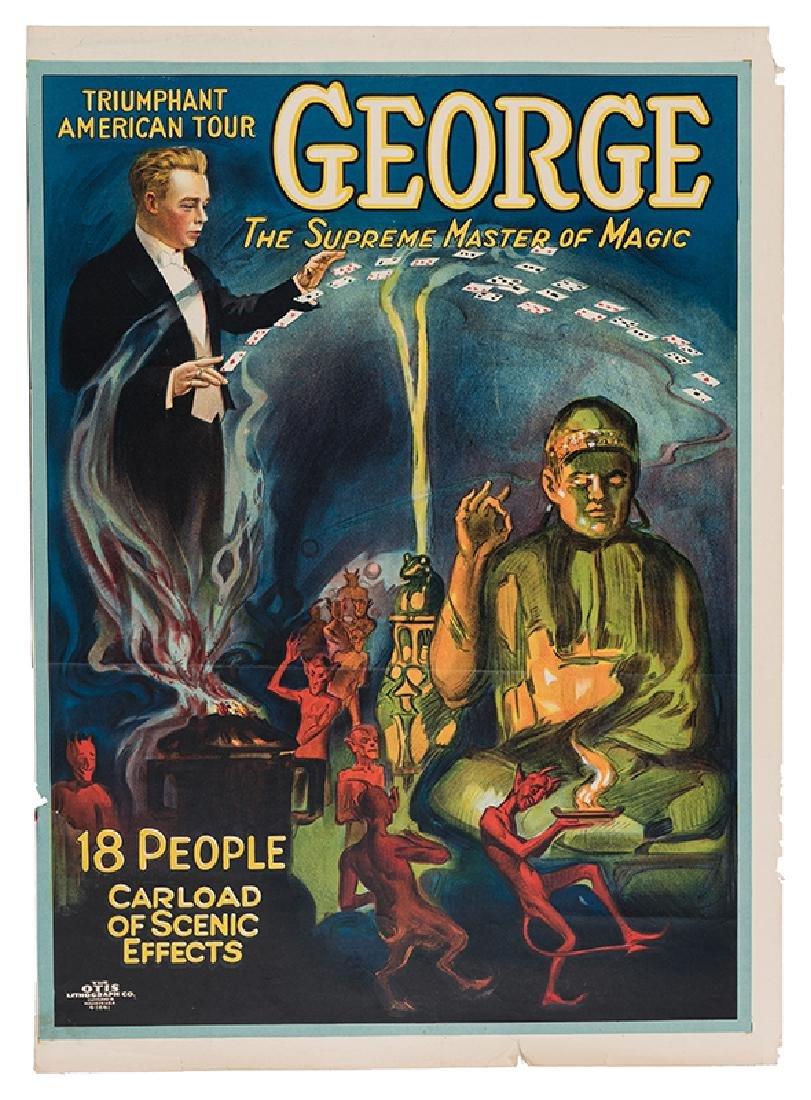 George The Supreme Master of Magic. Carload of Scenic