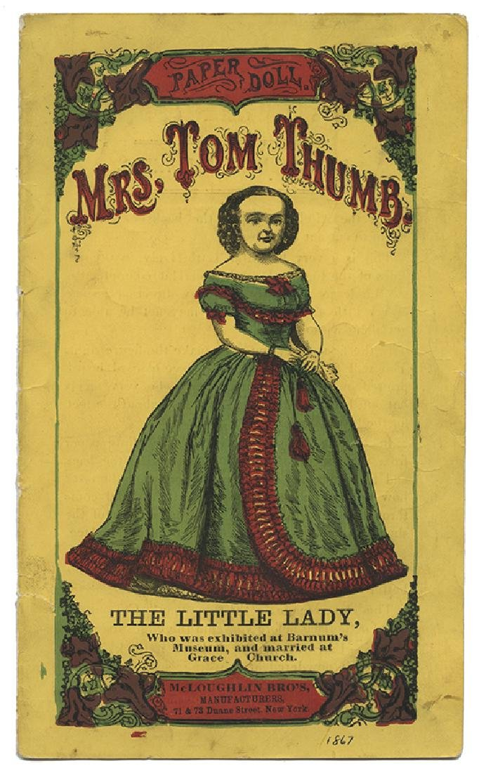 McLoughlin Bros. Paper Dolls of Tom Thumb and Mrs. Tom