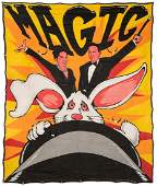 Magic. Painted Canvas Sideshow Banner.