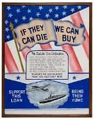 Original World War II Buy War Bonds Poster Artwork