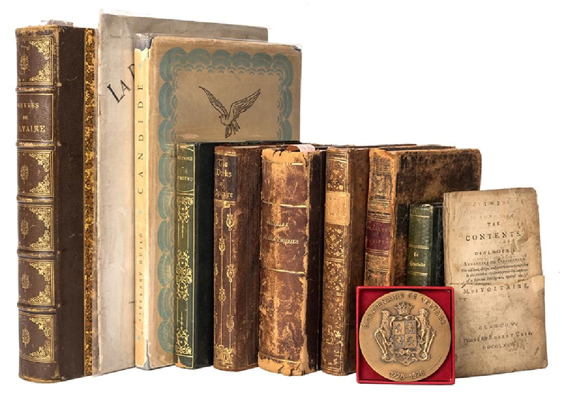 Group of Miscellaneous Editions of Works by Voltaire.