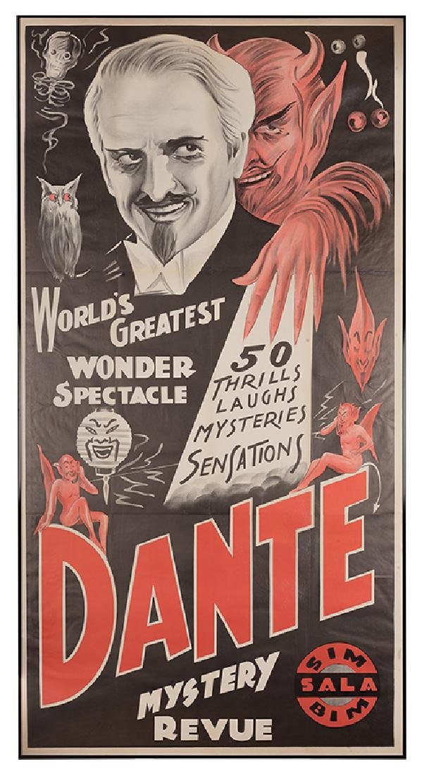 World's Greatest Wonder Spectacle. Dante.