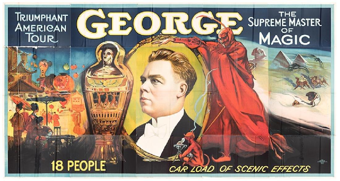 George the Magician. Triumphant American Tour Billboard
