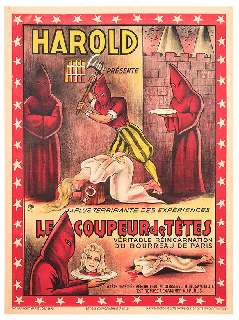 Harold Presente Le Coupeur de Tetes.