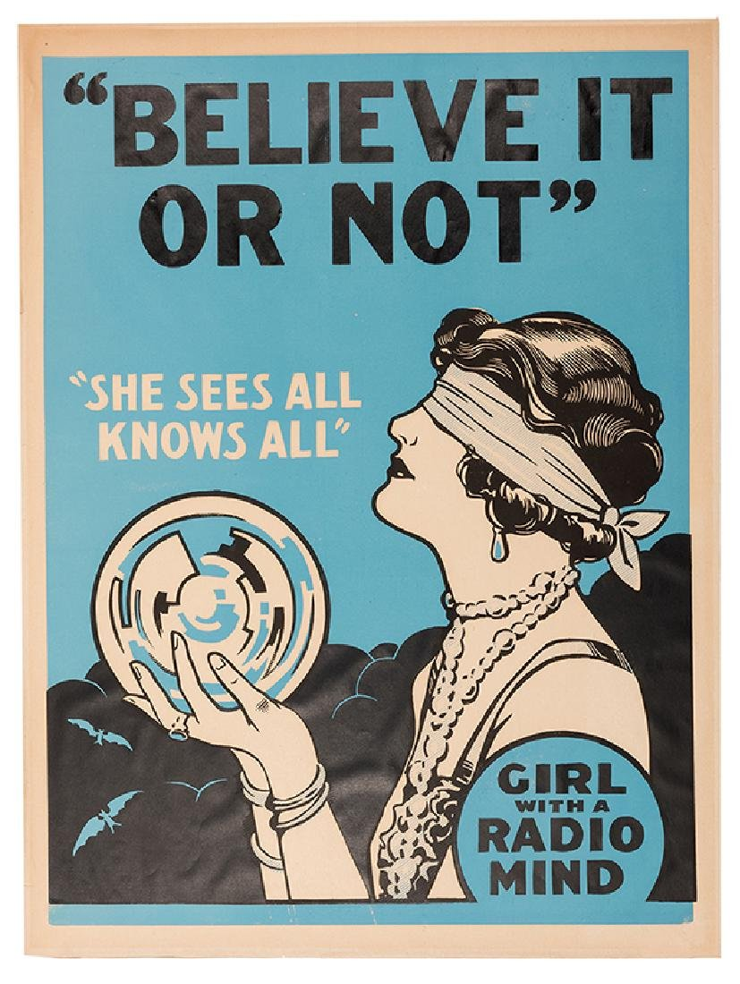 Believe It Or Not. Girl With a Radio Mind.