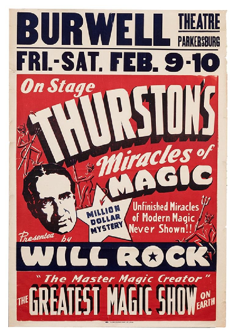 On Stage. Thurston's Miracles of Magic.
