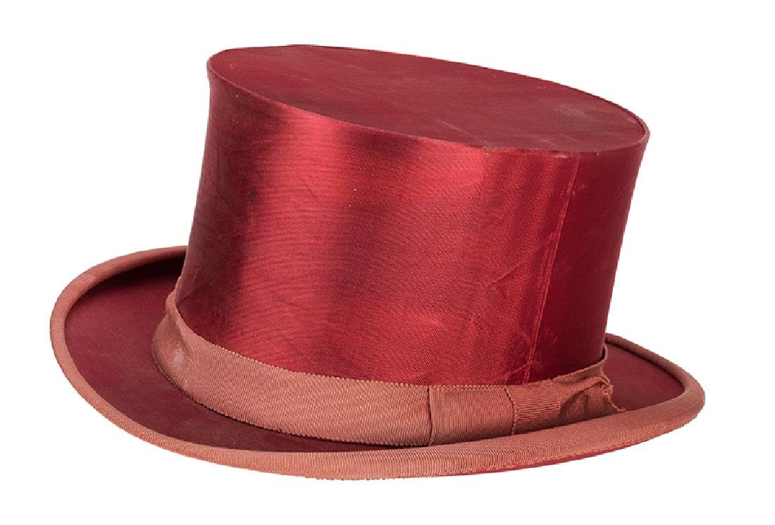 Magician's Collapsing Red Silk Top Hat.