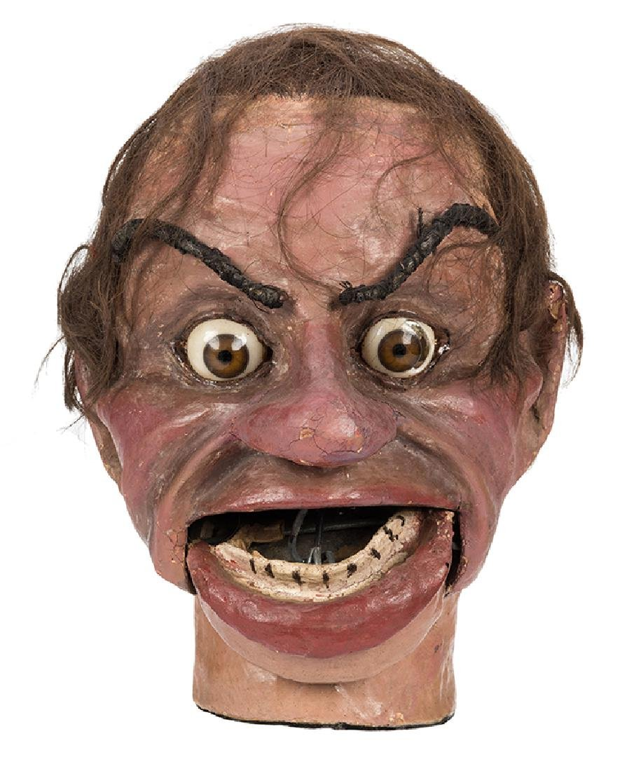 Vintage Ventriloquist Dummy Figure Head.