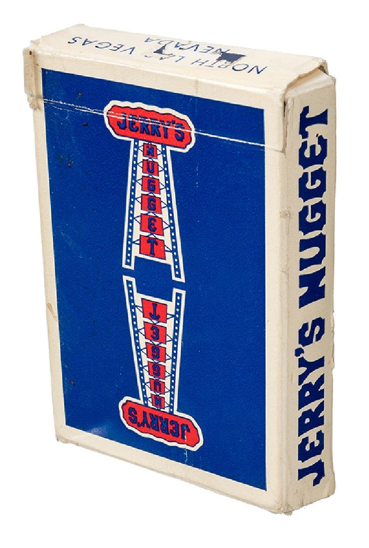 Jerry's Nugget Blue-Back Playing Cards.
