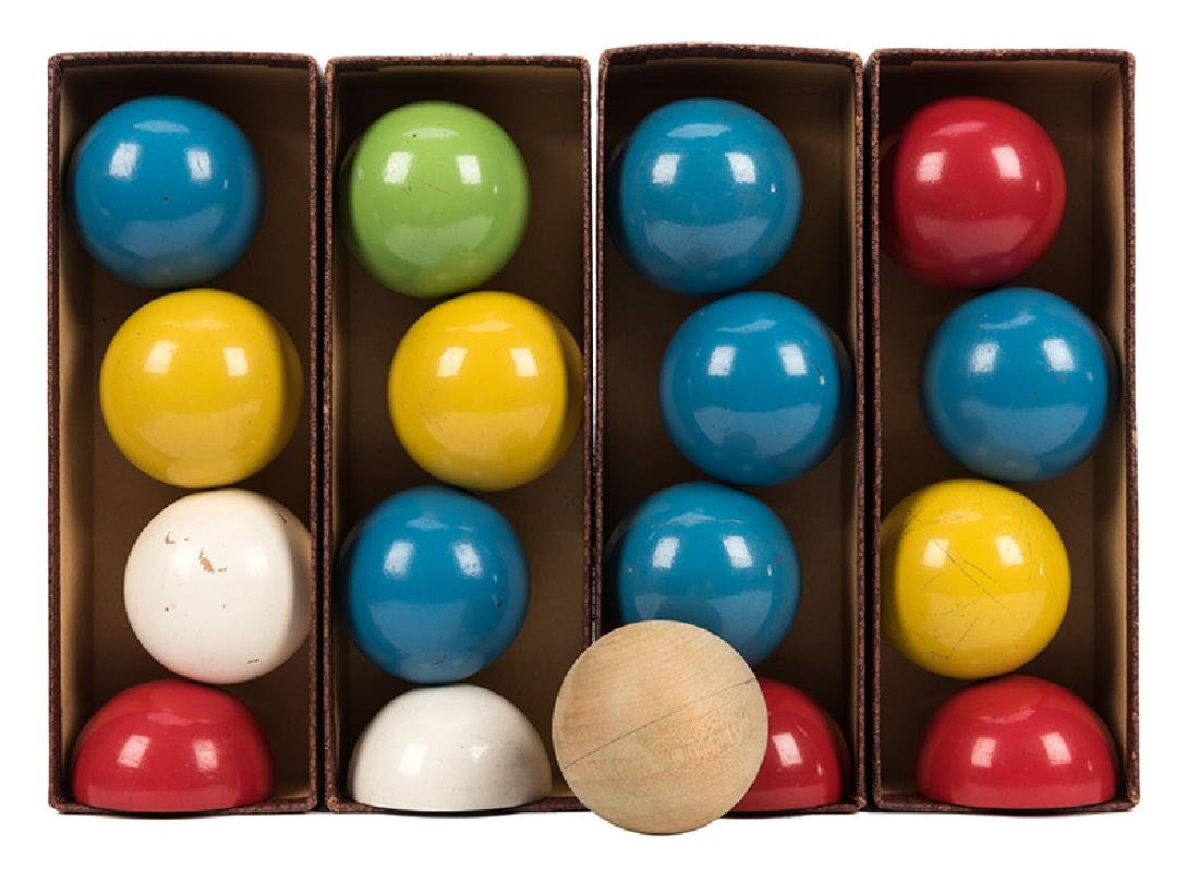 "Collection of Thayer 2"" Billiard Balls."