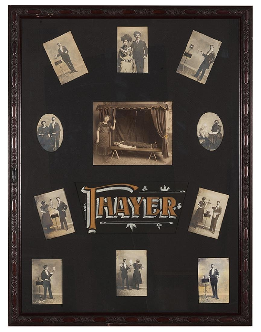Framed Display of Early Photographs of the Thayers.
