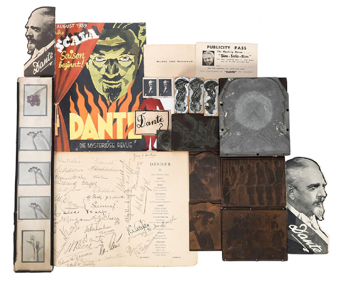 Collection of Dante Magic Ephemera.