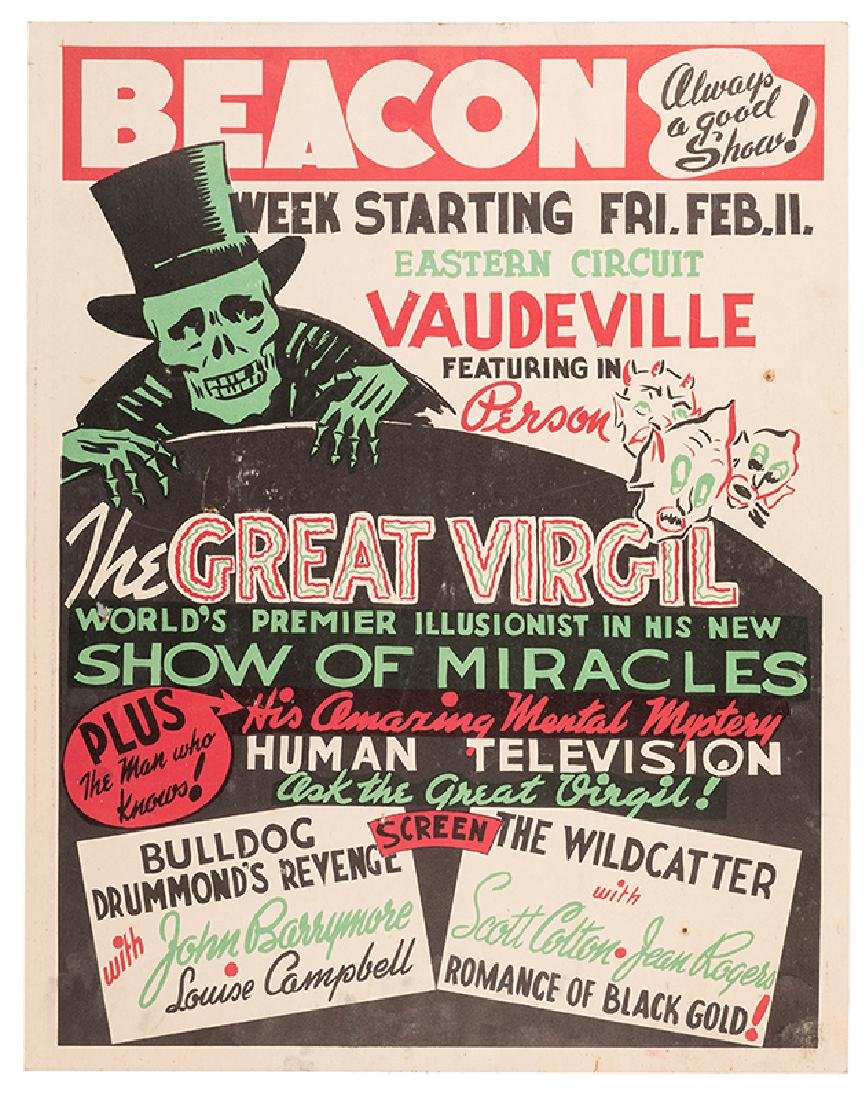 The Great Virgil. World's Premier Illusionist in His